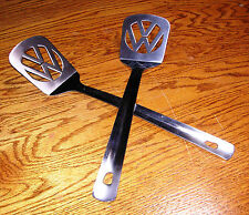 "Set of 2 Stainless Steel VW 13"" BBQ Spatulas Volkswagen Westfalia Metal Art Gift"