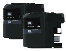 2pk LC103BK XL Black Ink for Brother DCP-J152W MFC-J245 MFC-J285DW MFC-J450DW