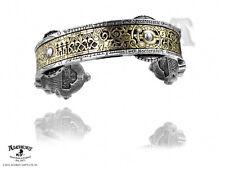 Alchemy Spectrostatic Instrument Band Pewter & Brass Steampunk Cuff Bracelet