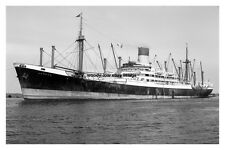 mc3413 - Blue Funnel Line Cargo Ship - Aeneas - photograph 6x4