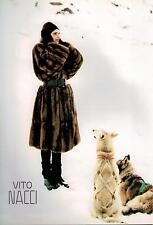 1987 VITO NACCI FURS :   Italian Magazine Print Ad  2-pg