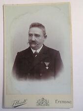 Eferding - 1906 - Herr Joh. K. Nadler im Anzug mit Orden / KAB