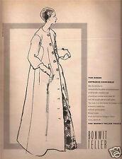 60's Kenneth Paul Block Illustrated Bonwit Teller  Ad 1963