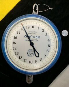 Vintage Chatillon Scale 🇺🇲 New York, USA 🇺🇲 Hanging Scale Serial 33 H 40 lbs