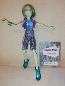 Monster High Porter Geiss. ANOTHER COMPLETE & COOL MANSTER  ENJOYING HIS WORK!