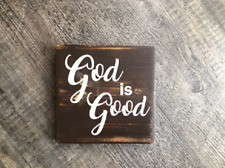 God is good wood hanging sign rustic home decore cottage gift