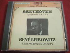 BEETHOVEN SYMPHONY NO 7 & 8 - RENE LEIBOWITZ - MENUET (CD 1998 SWITZERLAND)