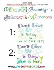2017-2018 Jehovah's Witnesses Circuit Assembly Program Notebook for Kids fo.
