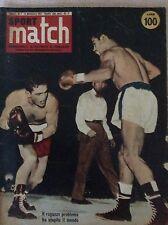 BOXE PUGILATO 1957 RIVISTA MATCH - HALIMI MACIAS  CAVICCHI TIBERIO MITRI ....