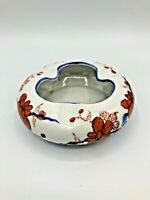 Vintage Asian/Chinese Red & Blue Porcelain Ashtray