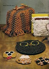 BOOK ONLY #MM271 Macrame Royale -Vintage Toaster Cover, Trivet & Coaster Pattern