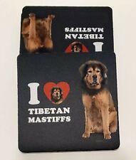 I love Tibetan Mastiff Printed Drink Coaster Color Printed Set of 4 New