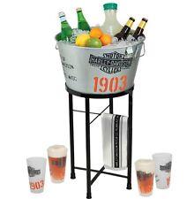 Harley-Davidson® Ice Beverage Holder Tub Stand Pint Glasses Bar Towel HDL-18740