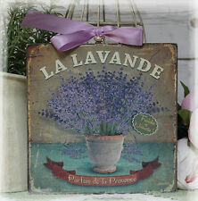 "~ ""La Lavande"" ~ Vintage Shabby Chic Country Cottage style Wall Decor. Sign ~"