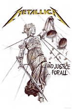 Metallica Poster and Justice for All Official Textile Flag 70cm X 106cm