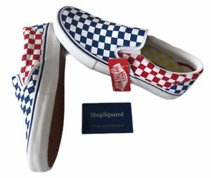 VANS SLIP ON PRO (PRIMARY) CHECKERBOARD BLUE RED YELLOW USA MENS SZ 10 NIB 🔥