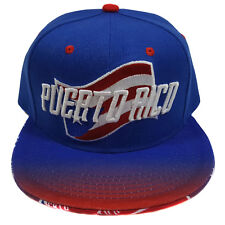 PUERTO RICO Two Tone Flash Flag Style Snapback Hat Cap