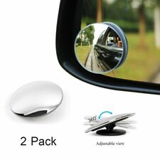2Pc Rimless Blind Spot Safety Side Mirror Kit 360 Degree Rear View Car Universal
