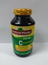 Nature Made Chewable Vitamin C 500mg 150 Tablets Exp 09/2021 #7170