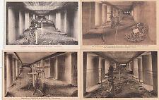 Lot 4 cartes postales anciennes GUERRE 14-18 WW1 VERDUN TRANCHEE BAIONNETTES 1