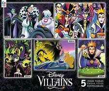CEACO DELUXE MULTI-PACK JIGSAW PUZZLE DISNEY VILLAINS 5 IN 1 #3702-1
