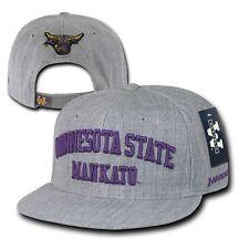 Gray Minnesota State Mankato Mavericks NCAA Flat Bill Snapback Baseball Hat Cap