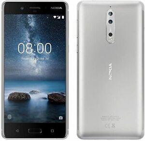 Nokia 8 - 64GB - Steel - TA-1004 -  (Unlocked) / SIM Free