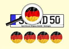 4 x Nummernschild Aufkleber Deutschland Germany AU Ersatz Plakette Flagge