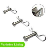 60 x Assortiment chape Pins Imperial Fixation Attaches pour R Clips /& goupilles fendues