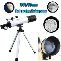 Mini Astronomical Telescope Tube Refractor Monocular Spotting Scope with Tripod