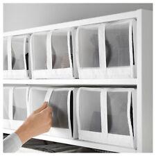 4 x IKEA SKUBB White Shoe Storage Boxes 22x34x16cm (Fits PAX)