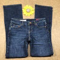 X2 Express Womens Slim W10 Bootcut Jeans Sz 4 Stretch Low Rise Blue Denim es231
