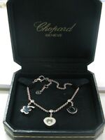Chopard Happy Diamond Lucky Charm Bracelet 85/5811/02 18K White Gold Diamond