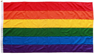 Rainbow LGBT gay pride flag traditionally sewn MoD approved outdoor stitched UK