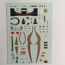 DECALS KIT 1/18 FIGURA + CASCO KIMI RAIKKONEN LOTUS F1 2012 WITH JAMES HUNT