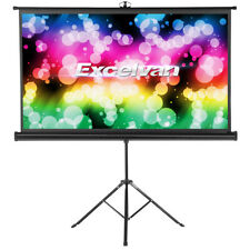 """100"""" 16:9 Projector Screen Tripod Stand Home Outdoor Screens Cinema Portable"""