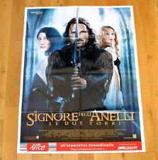 IL SIGNORE DEGLI ANELLI LE DUE TORRI manifesto poster The Lord of the Rings