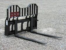 Pro Works 48 5500 Pound Pallet Forks 54 Wide Rail Frame Fits Skid Steer