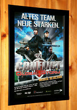 2005 Conflict Global Terror Storm Small Poster / Old Ad Page Framed PS2 Xbox