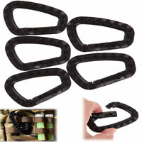 5pcs Outdoor Carabiner D-Ring Key Chain Clip Hook Camping Plastic Buckle v!
