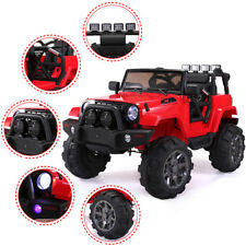 Red Kids Ride on Truck Car W/Remote Control 12V Battery Powered Electric Car