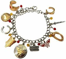 Dc Comics Wonder Woman ( 10 Themed Charms) Assorted Metal Charm Bracelet