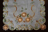 Organza Embroidery Tablecloth Dining Table Placemats Runner Thanksgiving Holiday