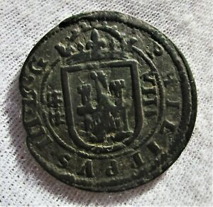 1607 Spain colonial coin Philippus III  8 Maravedis Segovia mint