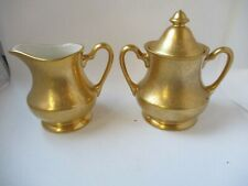 Pickard China Gold Engraved Creamer and Sugar 330.00 price tag matches Westchest
