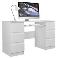Schreibtisch Computertisch Laptoptisch Bürotisch Büromöbel Arbeitstisch weiß