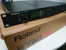 More details for roland s760 digital sampler boxed with power supply and original paperwork