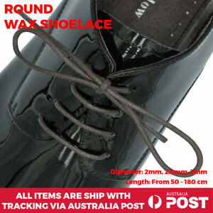Dark Brown Wax Shoelace Cotton Round Thin Dress Boot Lace 2mm, 2.5mm, 3mm Shoe