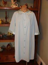 "Ladies/Women's Vintage Gossard Artemis Short Nylon Robe - Bust to 40"" - Blue"