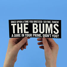 """Bob Dylan lyric Sticker! """"Like a rolling stone"""" blonde on, highway 61 revisited,"""